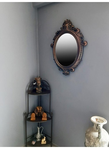 Giz Home Rustik Ayna 76X56 Tr06 Renkli